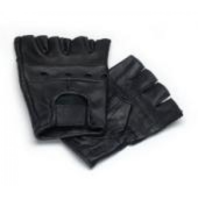 Leather Glove without fingers black Medium, 7,90
