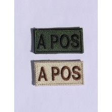Blood Type Patch 0 POS Oliv